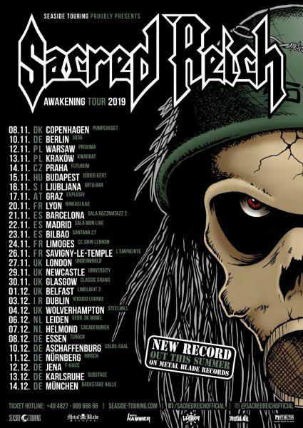 Sacred Reich EU tour 2019