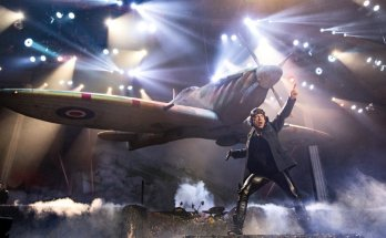 Iron Maiden Bruce Dickinson Live on stage with a Spitfire
