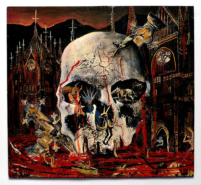 Slayer's South of Heaven album cover artwork