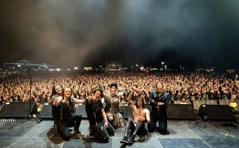 Battle Beast Live Tour Band Image, Crowd, Stage, Night, Metal, Rock