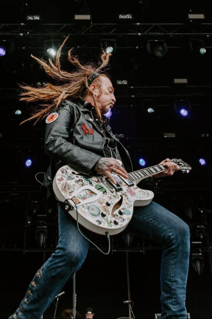 Ginger of The Wildhearts at Bloodstock Festival 2019