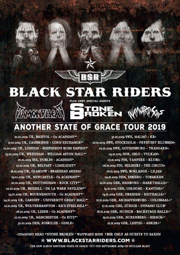 Tour Poster, Black Star Riders, Band Members