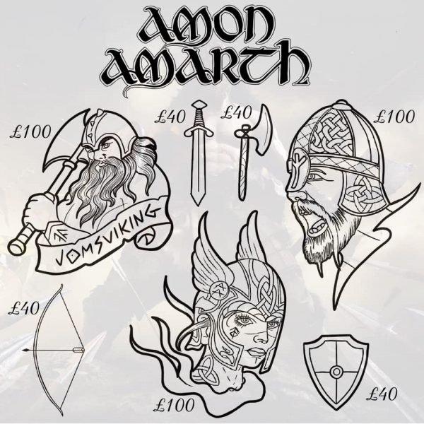 Amon Amarth tattoo 4
