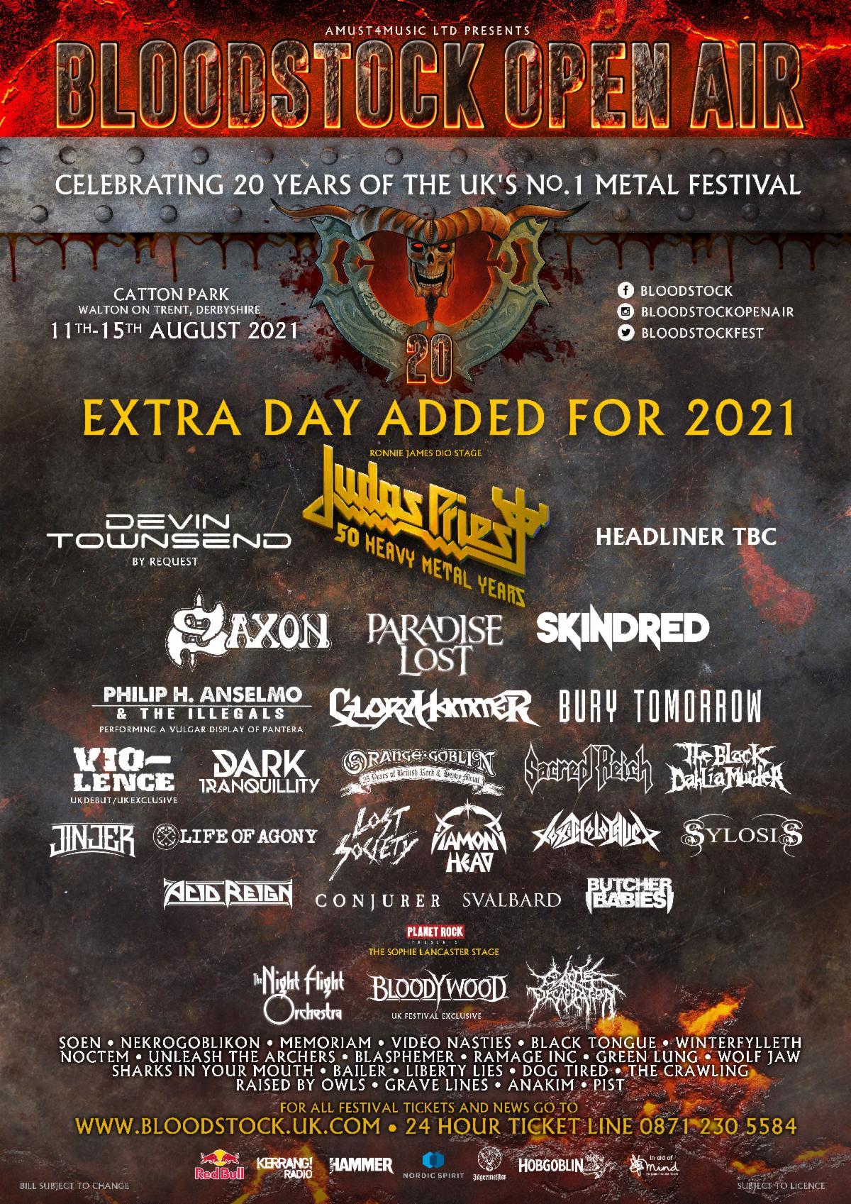 Bloodstock 2021 poster