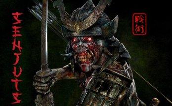 Iron Maiden Senjutsu album cover - Iron Maiden's mascot Eddie is dressed in samurai armour and holds a katana sword