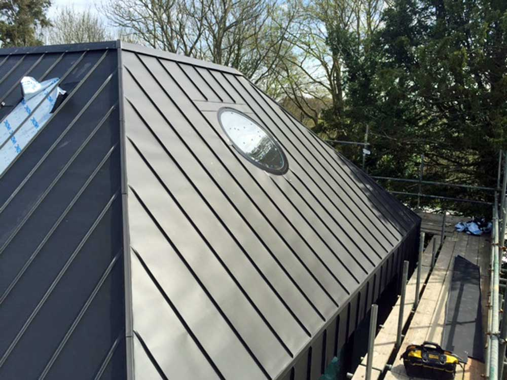 Zinc Clad New Built Barn House In Hurstpierpoint Sussex