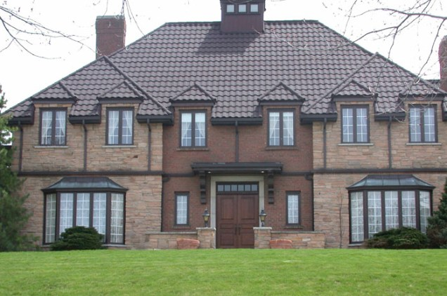 This grand historical home in Ontario needed a classic looking roof with excellent durability - so the owners chose Metal Roof Outlet's steel tile.