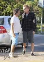 James Hetfield with his son Castor in Punta del Este, Uruguay on 12-25-11