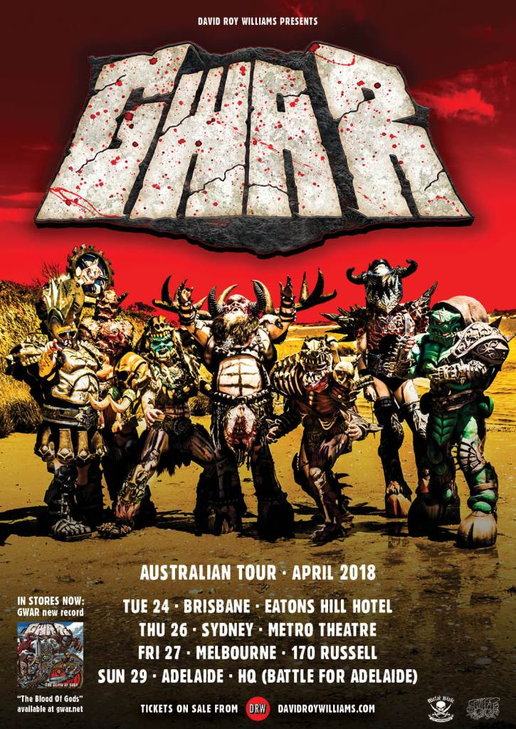 "Gwar 725x1024 - INTERVIEW: GWAR's Berserker Blothar on Upcoming Tour: ""Australia Understands GWAR Better Than Anyone"""