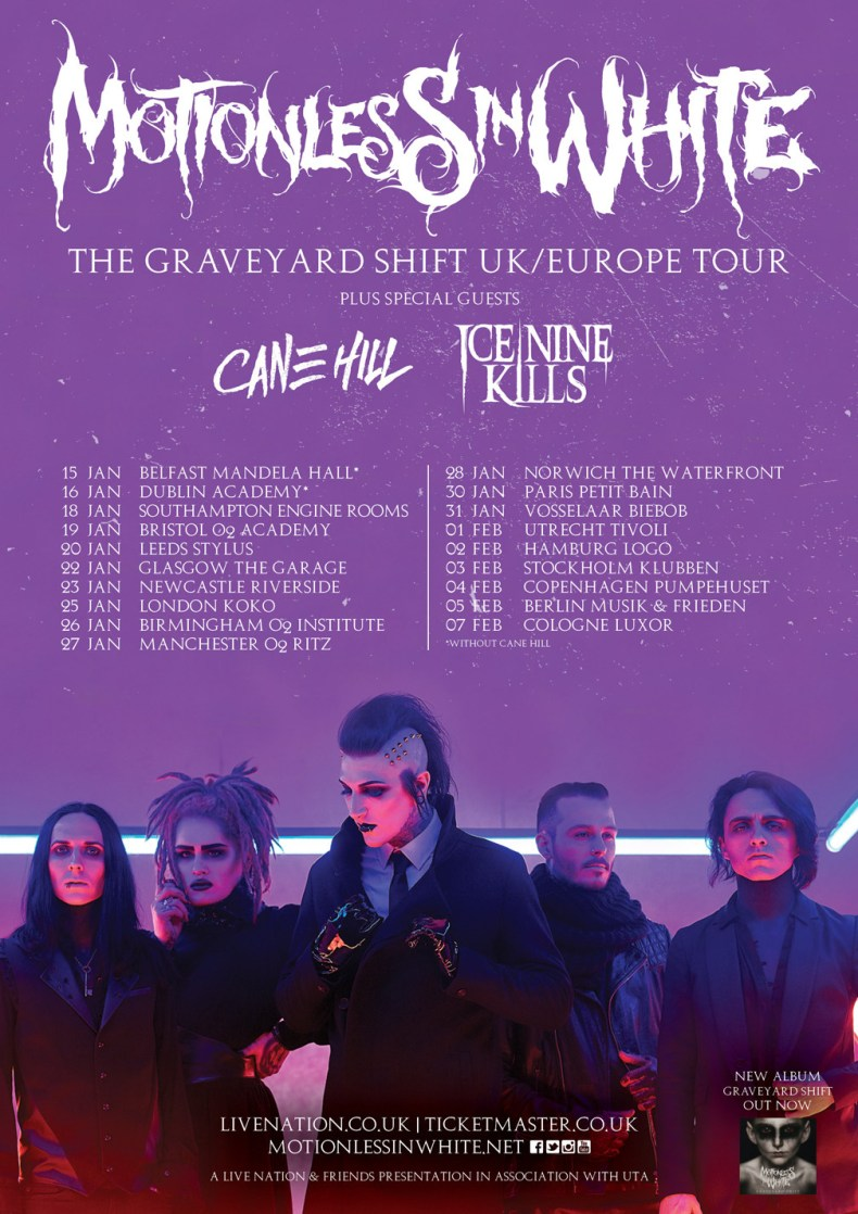 Motionless In White 2018 UK tour 4ebf62eb0b1d8fb7d4a9dd8bb04f2b32 - GIG REVIEW: Motionless In White & Ice Nine Kills Live at The Academy, Dublin