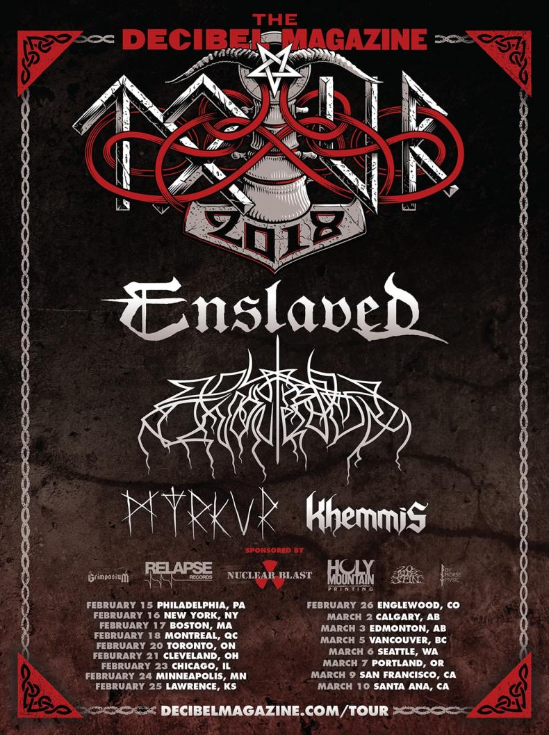 enslaved2018tour - GIG REVIEW: Enslaved, Wolves In The Throne Room, Myrkur & Khemmis Live at the Phoenix Theatre, Toronto