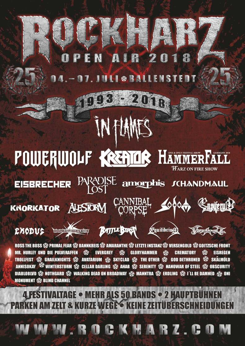 rockharz 2018 - FESTIVAL REVIEW: ROCKHARZ OPEN AIR 2018 Live at Ballenstedt, Germany - Day 2 (Thursday)