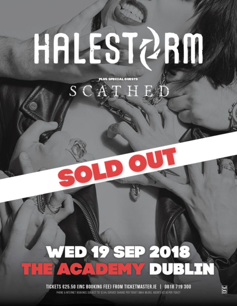 Halestorm Dublin SOLD OUT 792x1024 - GIG REVIEW: An Evening With HALESTORM Live at The Academy, Dublin, Ireland