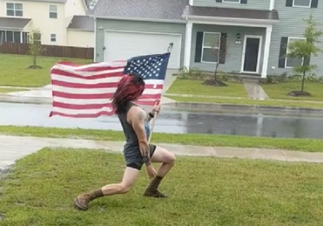 hurricane florence - Watch A Dude Rocking Out To Classic SCORPIONS Track During Hurricane Florence