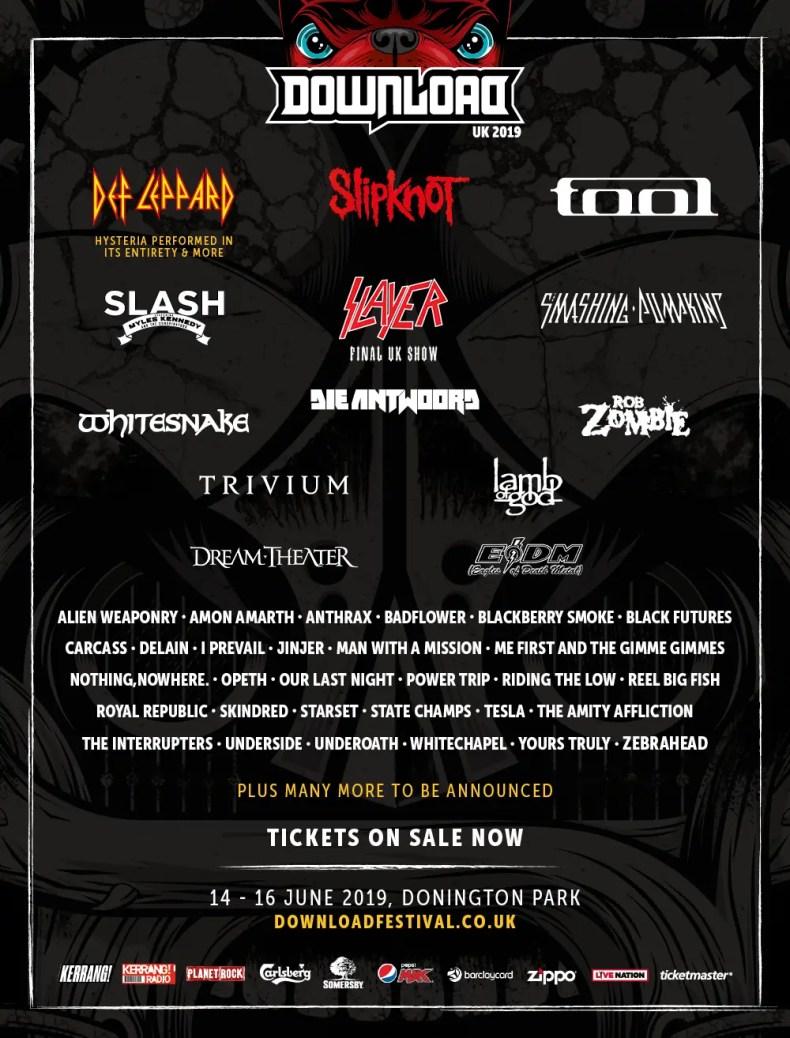 Download UK 2019 - FESTIVAL REPORT: DOWNLOAD FESTIVAL UK Announces 23 Killer Bands For 2019 Edition