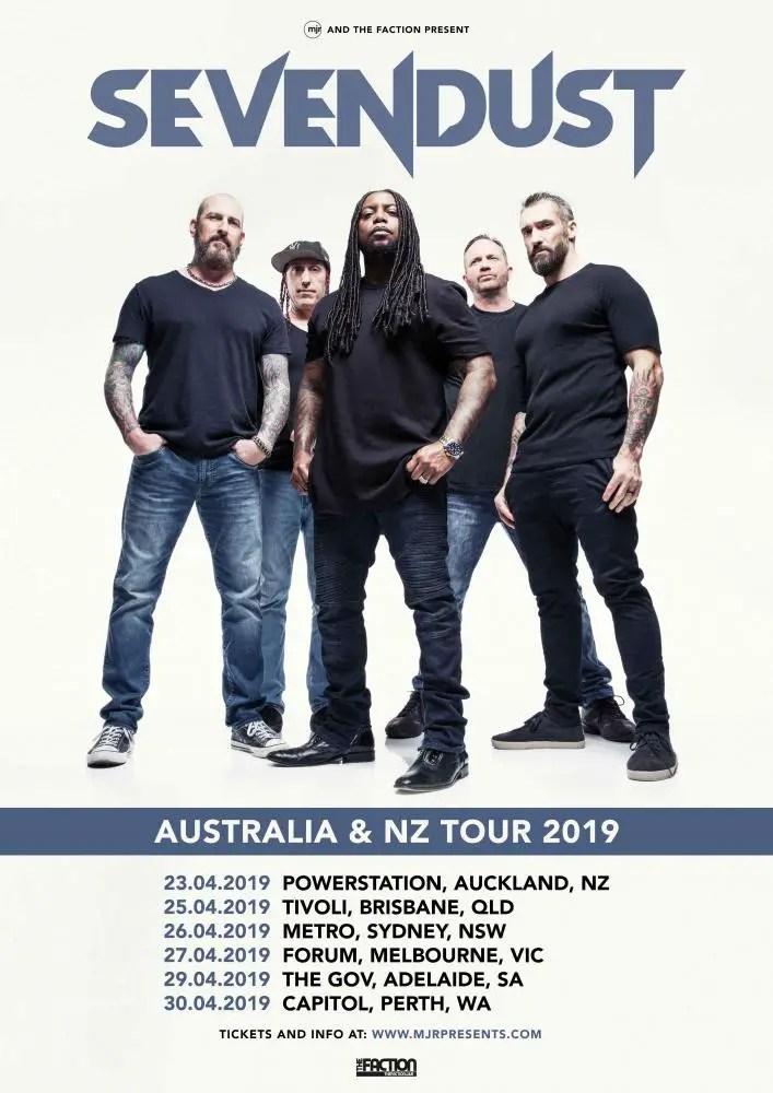 Sevendust - TOUR: SEVENDUST Primed To Tour Australia & New Zealand In April 2019