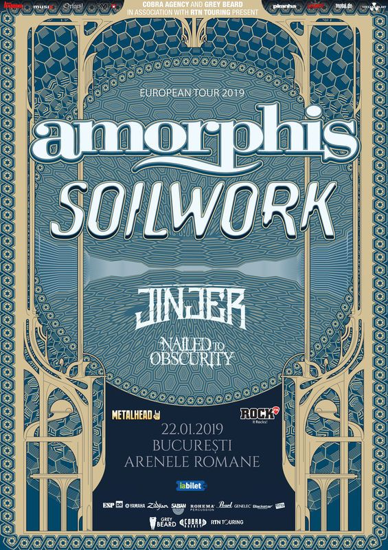postergigaorphis22ian - GIG REVIEW: Amorphis, Soilwork, Jinjer & Nailed To Obscurity Live at Arenele Romane, Bucharest
