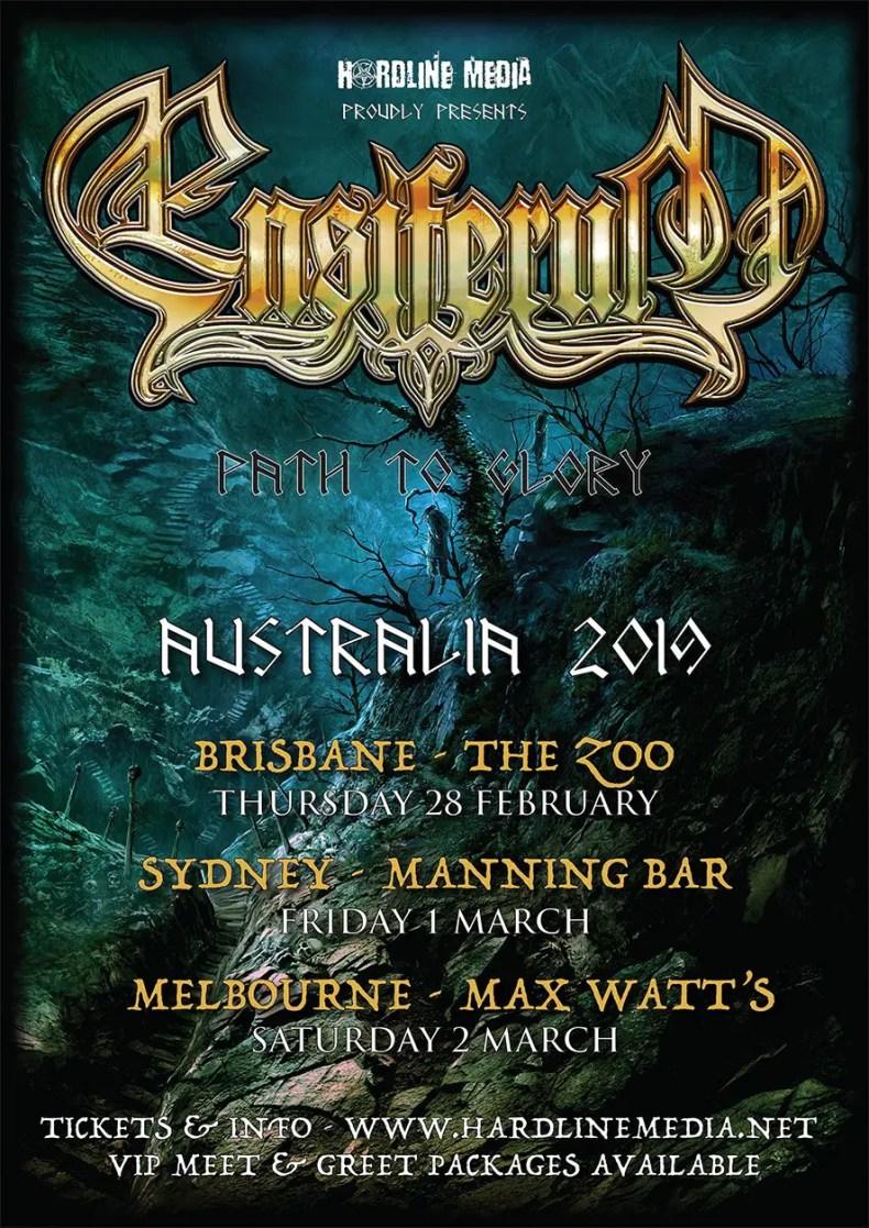 EnsiferumAus - GIG REVIEW: Ensiferum, Valhalore & Elkenwood Live at The Zoo, Brisbane