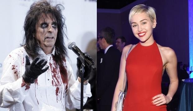 miley alicecooper - Rock Legend ALICE COOPER Reacts To Pop Star Miley Cyrus Wearing His T shirt