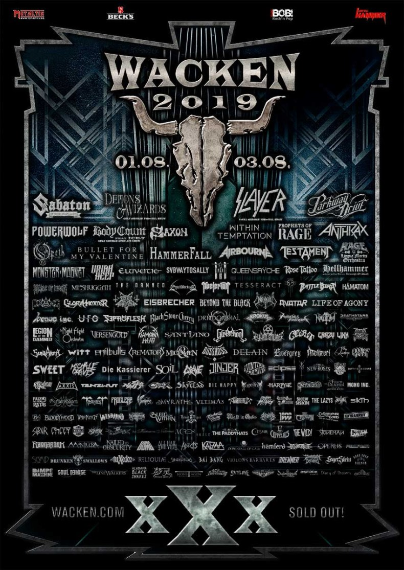 WOA 2019 - FESTIVAL REPORT: WACKEN OPEN AIR Announces 53 New Bands For 2019 Edition