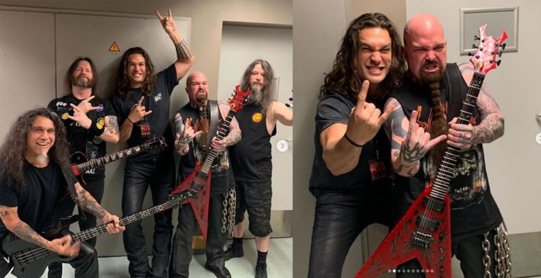 momoa slayer - Jason Momoa's Childhood Dream Of Meeting SLAYER & ANTHRAX Is Accomplished; Releases An Emotional Statement