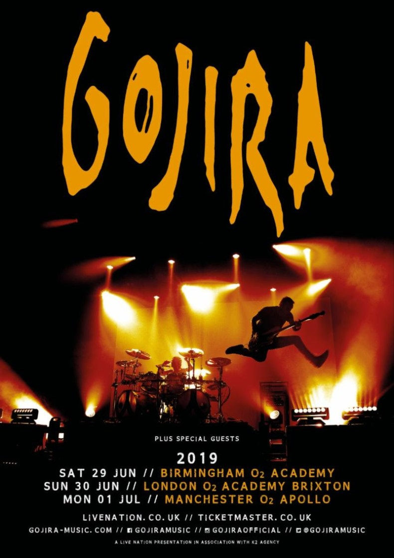 Gojira - GIG REVIEW: Gojira, Rolo Tomassi & Dead Label Live at O2 Apollo, Manchester, UK