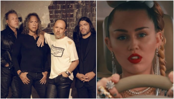 metallica miley cyrus - Watch Miley Cyrus Cover METALLICA's 'Nothing Else Matters' At Glastonbury Festival