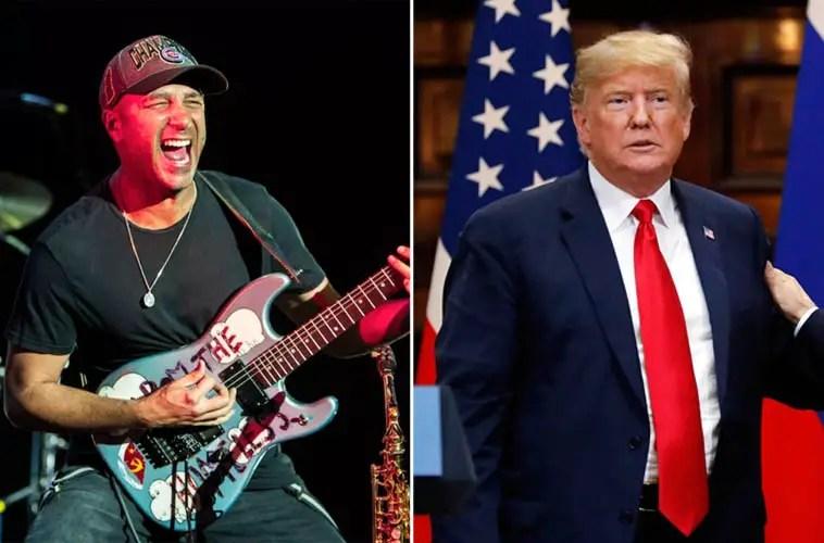 tom morello and donald trump - RATM Guitarist Tom Morello Calls Donald Trump An 'Orange-Faced Demagogue'