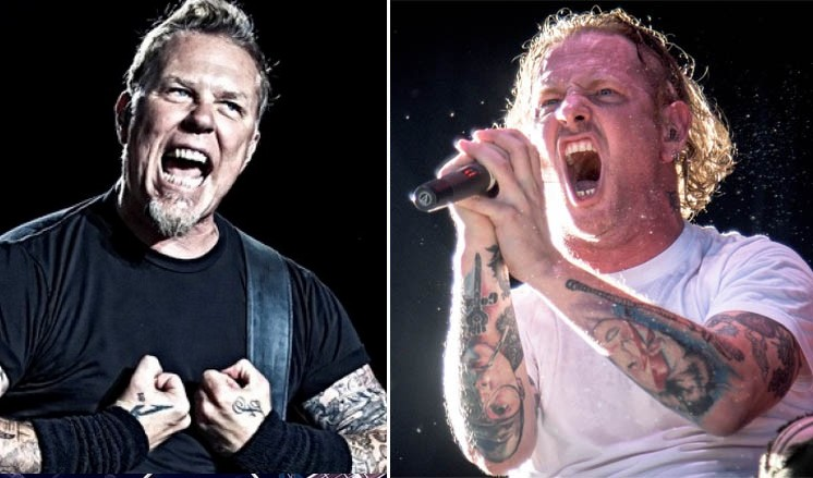 james hetfield corey taylor - Corey Taylor Recalls METALLICA Joining SLIPKNOT Onstage & Crushing 'Spit It Out'