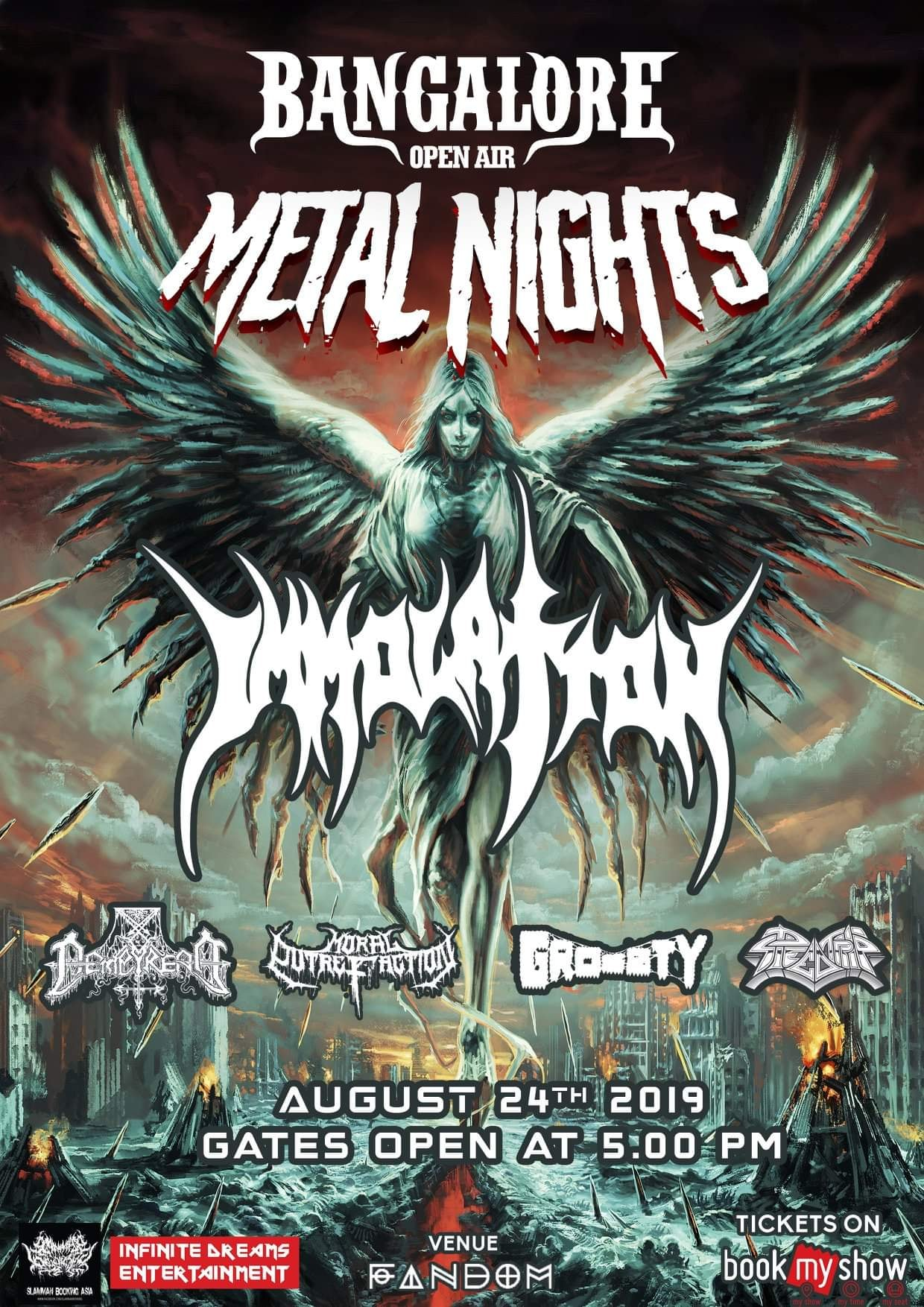 GIG REVIEW: BANGALORE OPEN AIR Metal Nights Feat  IMMOLATION