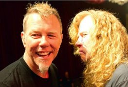 "Dave Mustaine e James Hetfield - Dave Mustaine on Reconnecting With James Hetfield During Ongoing Cancer Diagnosis: ""He Stood Next To Me"""