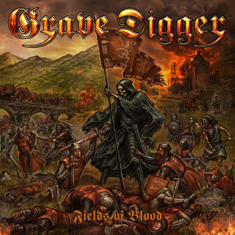 """Fields of Blood Cover - REVIEW: GRAVE DIGGER - """"Fields Of Blood"""""""