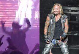 """vince neil falls off stage e1634360364791 - Watch VINCE NEIL Falls Off Stage In Tennessee: """"I Can't Breathe"""""""