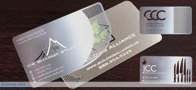 metal busienss cards