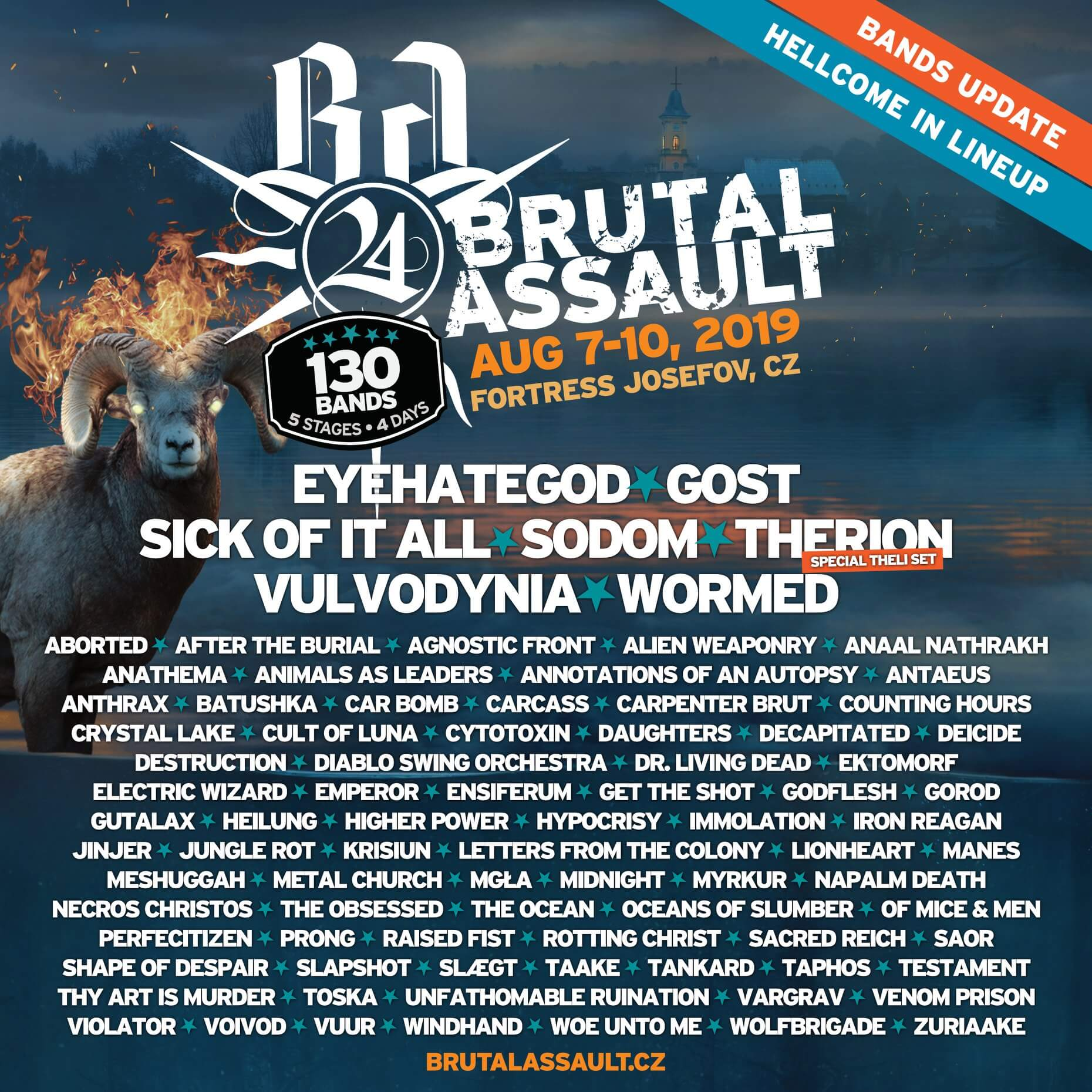 Brutal Assault 2019 Band Updates