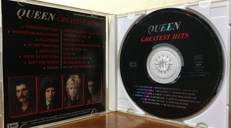 Queen Greatest Hits CD Jacket