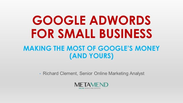 Google Adwords for Small Business - Slide1