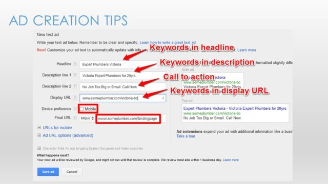 Google Adwords for Small Business - Slide30