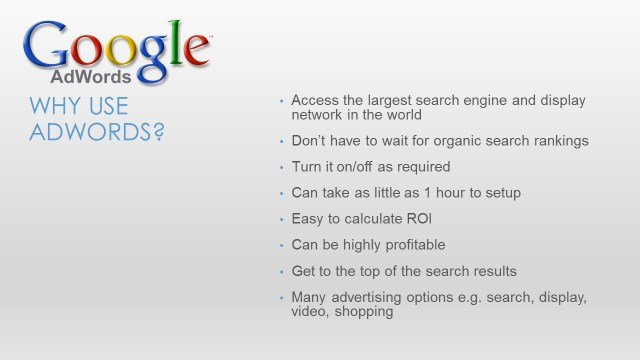 Google Adwords for Small Business - Slide5