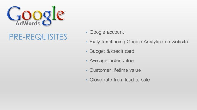 Google Adwords for Small Business - Slide7