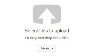 YouTube video upload button