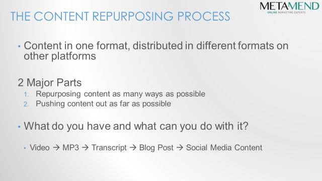 Content Marketing - Repurposing and Tracking - Slide8