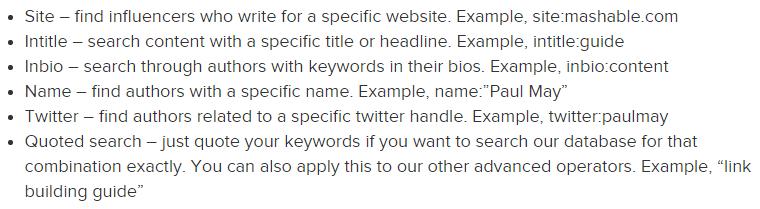 buzzstream-search-operators