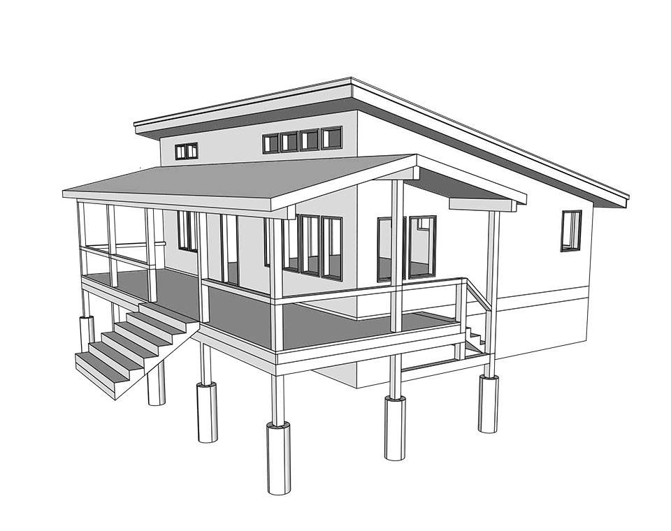 Planned porch for Pansydale