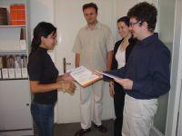 доделување сертификати за учество на обуката за користење компјутери