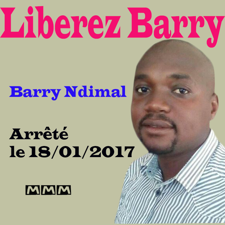 UPDATE sur la situation de Barry Ndimal