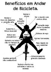 Benefícios em andar de bicicleta.