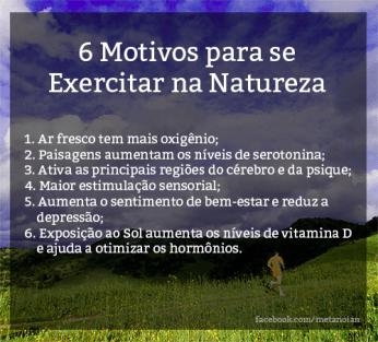 6 motivos para se exercitar na natureza