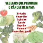 Vegetais contra o câncer de mama.