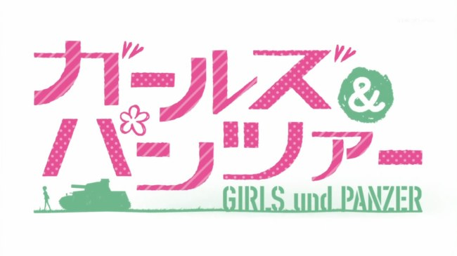 Girls und Panzer OP Title Screen